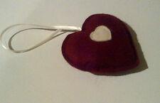 Hanging Heart in Ruby & Cream Felt