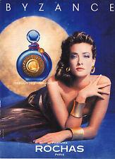 PUBLICITE ADVERTISING 1990 BYZANCE  parfum ROCHAS                         121212