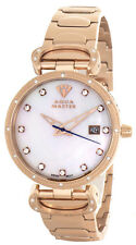 Aqua Master Womens Pearl Dial Rose Gold Tone St. Steel Bracelet Watch W#359_4