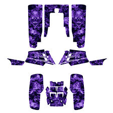 Banshee 350 graphics custom full coverage #9500 Purple Zombie Skull
