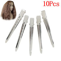 10xProfessional metal hair clips sectioning salon hairdressing curling grip SL