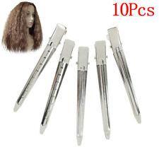10xProfessional metal hair clips sectioning salon hairdressing curling gri CRAU