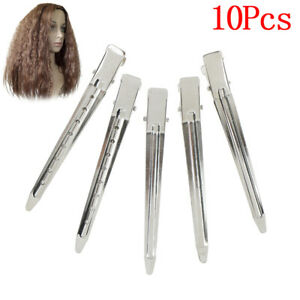 10xProfessional metal hair clips sectioning salon hairdressing curling gr TBSS