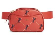 Chloé Women's Embroidered Horse Signature Leather Belt Bag, Earthy Red,MSRP $850