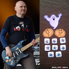 Billy Corgan blue Strat stickers replica Smashing Pumpkins guitar decal ghost