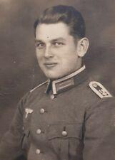 ORIGINAL GERMAN WW2 Army photo small army portrait smiling 5.5 x 4 cm