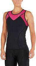 New 2XU Women Active Tri Singlet Triathlon Top Cycling Swim Running Large