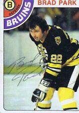 Brad Park 1978 Topps Autograph #79 Bruins