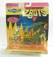 MICRO MACHINES ZBOTS 3 MICRO ROBOTS (PARAGON ...) SEALED GALOOB 1993