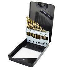 13pc Hss Brocas 1.5mm-6.5 mm de nitruro de titanio Metal Conjunto En Funda De Calidad