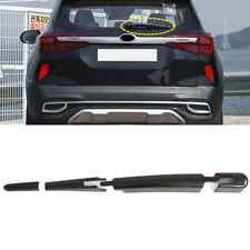 Carbon Fiber Rear Window Wiper Blade Cover Trim 4pcs For Kia Seltos 2019-2021