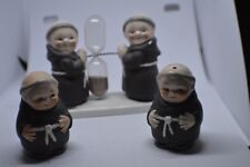VINTAGE Goebel Friar Tuck Monk Timer Egg Timer & Salt & Pepper Shakers ADORABLE
