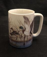 Vintage Otagiri Coffee Tea Japan Mug Mallard Ducks Trees LakeNEW