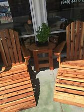 Solid wood lawn chair set