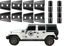 8pc Black Door Hinge Covers For 2007-2017 Jeep Wrangler 4 Door New Free Shipping
