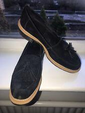 Dr Martens Black Suede Tassel Front Moccasins - Size 6.5