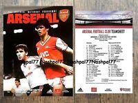 Arsenal v Manchester United Man Utd Programme & Team Sheet 2020 January 01/01/20