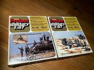 TBE/ LOT DE 2 BOITES PREISER MILITARY / 1*87 / REF 1615-1614 / GERMAN WWII /