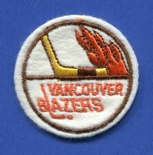 "Vancouver Blazers Wha Round 2"" Embroidered Patch - 13166"