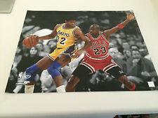 Michael Jordan Chicago Bulls 16x20 Picture NBA Basketball Earvin Magic Johnson