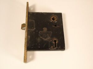 Antique Corbin USA Mortise Interior Door Lock Hardware Restore Black Heavy