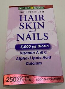 Nature's Bounty - Hair Skin And Nails 5000 Ug Of Biotin - 250 Vitamin Tablets