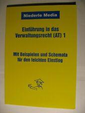 **Einführung in das Verwaltungsrecht (AT) 1, Manuela Schmidt-Severin, Niederle**