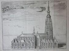 1743 EGLISE NOTRE DAME BREDA Grote Kerk church Harrewijn Netherlands Paesi Bassi