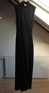 Dries Van Noten schwarzes Kleid / Wickelkleid, mit Wolle, Gr. 38