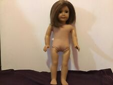 Used American girl doll brown short hair, and blue eyes