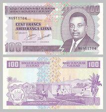 Burundi 100 Francs 2011 p44b unz.