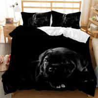 Great Little Black Milk Dog 3D Quilt Duvet Doona Cover Set Pillow case Print