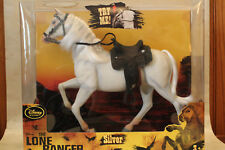 Lone Ranger's white HORSE Silver Disney store NEW NRFB w Western Saddle Tack 1:6