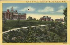Huntington WV US VA Hospital Linen Postcard