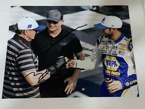 JEFF GORDON Bill CHASE ELLIOTT 3X autographed PIT SHOT HENDRICK CHAMPIONS photo