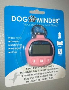 DOG E MINDER KEEP TRACK OF YOUR DOGS SCHEDULE PINK ID TAG WATERPROOF NEW L@@K