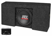 """Powered 10"""" MTX Subwoofer+Sub Box Enclosure For 09-15 Ford F-150 Super Crew Cab"""