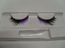 faux cils noir et violet