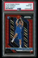 2018 Panini Prizm Luka Doncic Rookie PSA 10 Ruby Wave Refractor Gem Mint RC 280