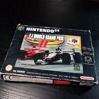 F1 WORLD GRAND PRIX 2 -  Nintendo 64 Game - Box, Sleeve & Manual - UK Version