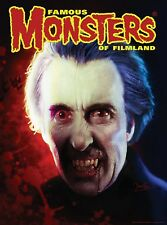 Famous Monsters Christopher Lee Dracula by Dave Elsey 18 x 24 Poster