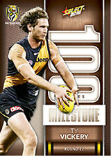 2016 AFL Footy Stars Trading Cards Milestones Subset MG67 TY Vickery (Richmond)