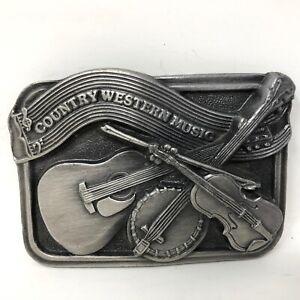 VTG Bergamot Brass Works Country Western Music Belt Buckle Cowboy Western Rodeo