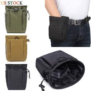 Tactical Military Magazine Pouch Utility Drop Dump Molle Bag Gun Ammo Bag