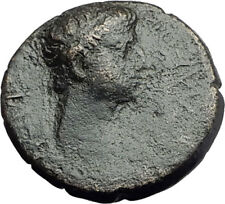 Greek King RHOEMETALKES of THRACE & AUGUSTUS Authentic Ancient Roman Coin i64367