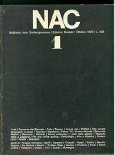 NAC ARTE CONTEMPORANEA OTTOBRE 1970 N. 1 BIENNALE DEPERO ROTHKO MORANDI GODARD