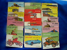 1953 WORLD ON WHEELS ,  LARGER CHOICE -ANY 5  OF 34  CARDS STILL AVAILABLE