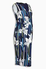 May BNWT Maternity Navy Print Bodycon Dress Size 14 (1) by NEXT