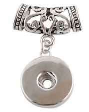 Silver European Endless Leather Pendant for 18-20mm Snap Charm Ginger Snaps