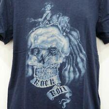 Lucky BRAND Mens American Blue Skullillusion Graphic Tee Shirt 2xl XXL 3260-5